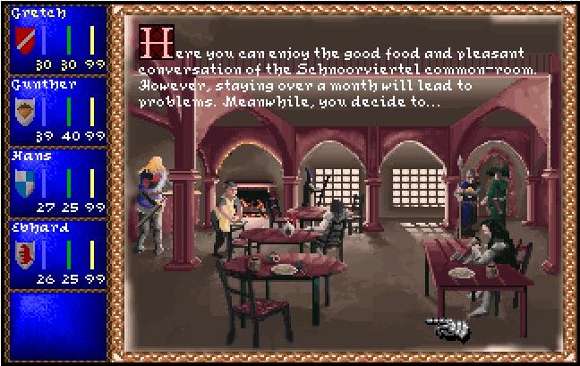 Les tavernes dans Darklands sont une source de repos et de rumeurs
