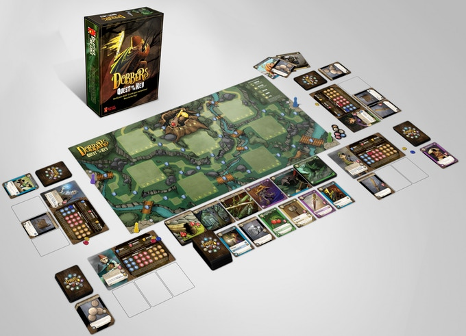 Kickstarter - Jeu de société Dobbers Quest for the Key