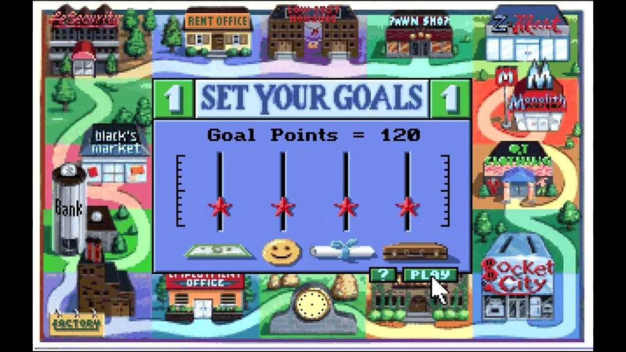 Le jeu permet au joueur de sélectionner ses propres objectifs de victoire