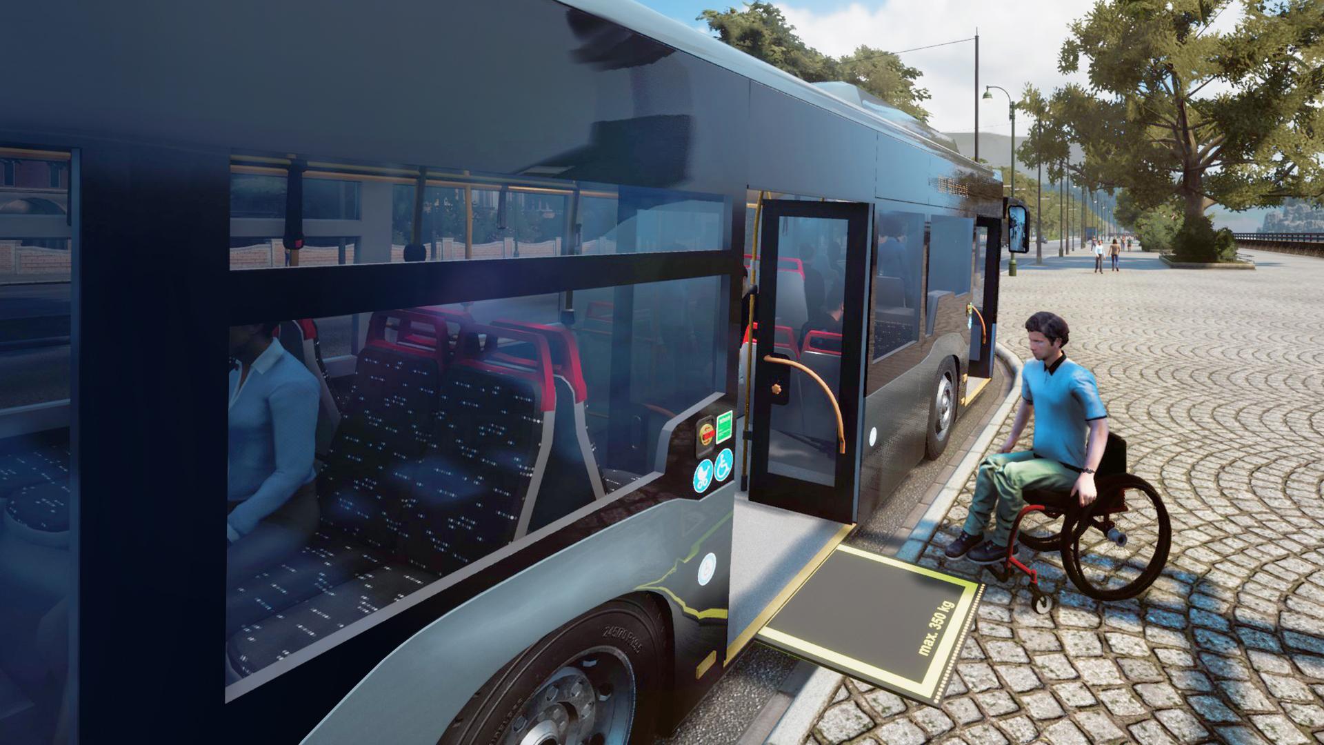 Vous pouvez déployer une rampe pour vos passagers handicapés comme dans la vraie vie!