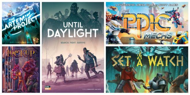 5 jeux de société sur Kickstarter Début Octobre 2018