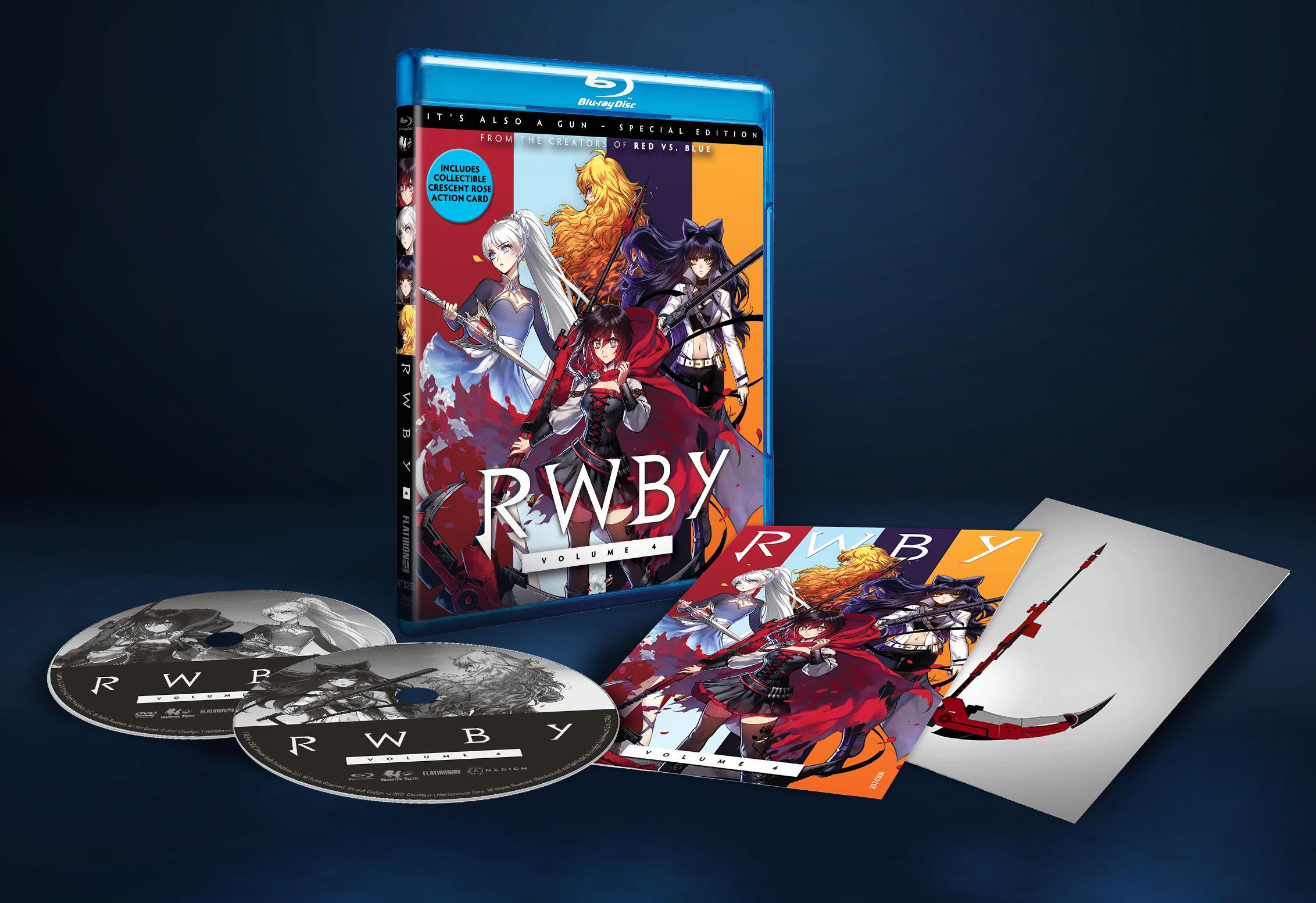 Coffret Blu-ray de RWBY Volume 4