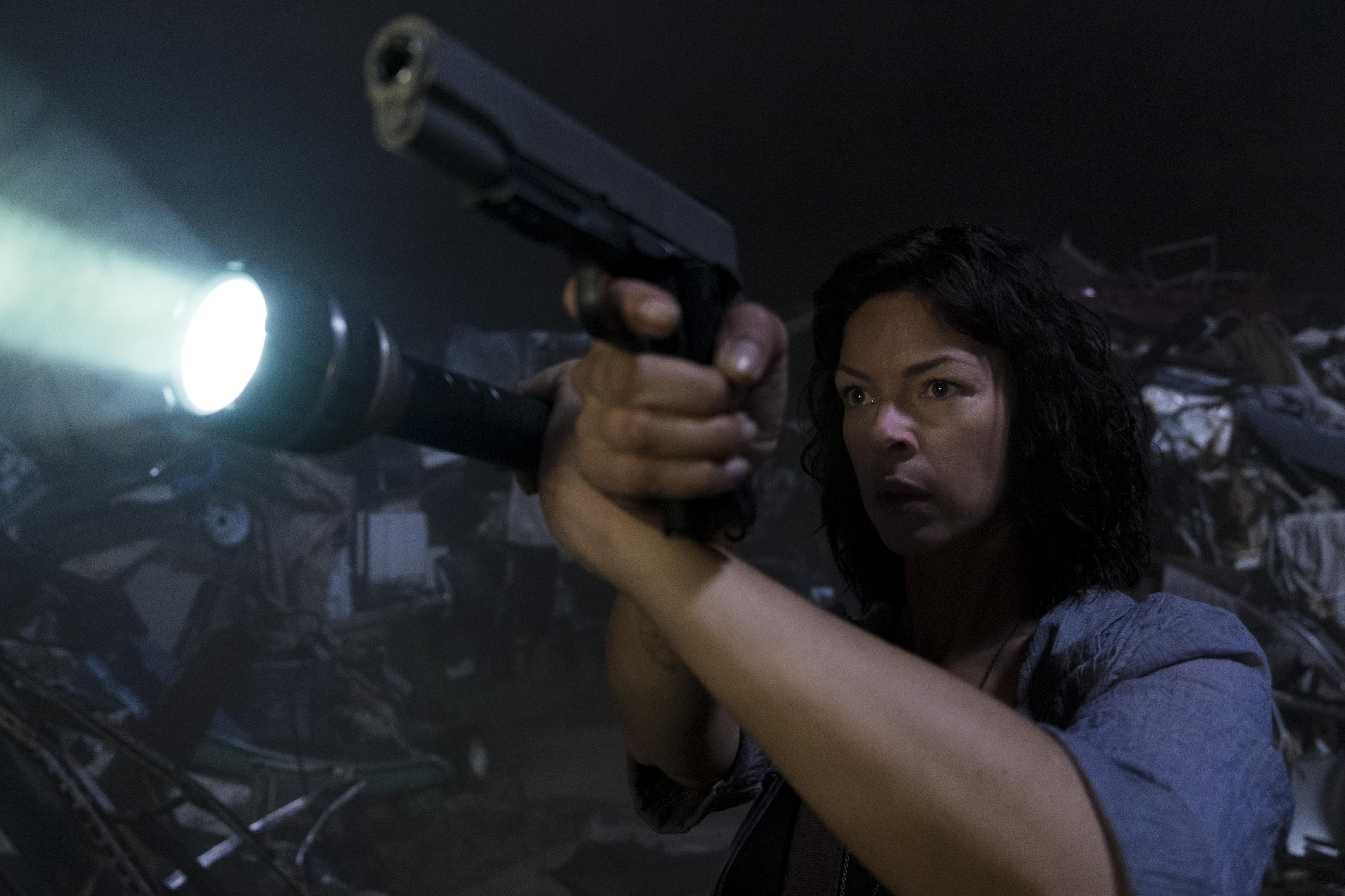 Jadis/Anne (Pollyanna McIntosh) a encore plusieurs secrets... - The Walking Dead - Saison 9, Épisode 3 - Crédit Photo: Gene Page/AMC