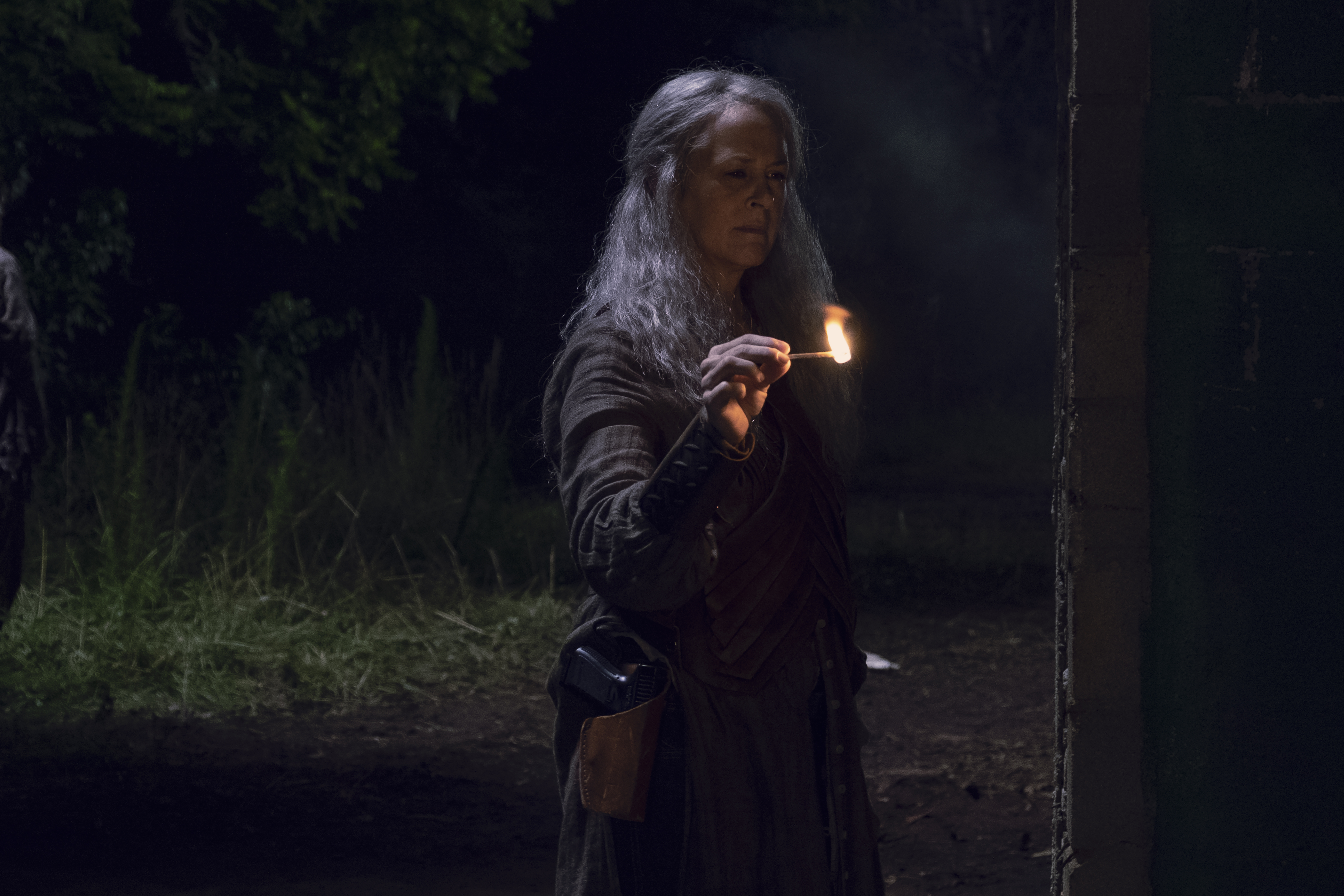 Carol Peletier (Melissa McBride) est impitoyable face aux ex-Sauveurs. - The Walking Dead - Saison 9, Épisode 6 - Crédit photo : Gene Page/AMC