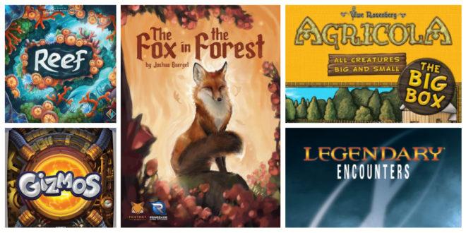Reef et quatre autres découvertes jeux de société