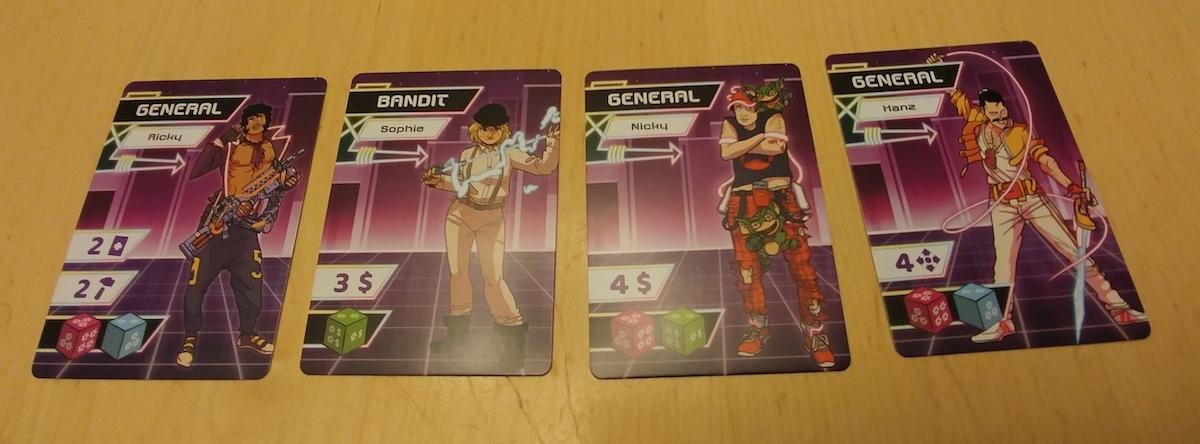 Cartes du jeu de société Neon Gods