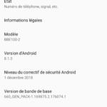 Informations systèmes du BlackBerry KEY2 LE