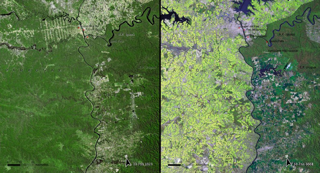 Image satellite du Paraguay