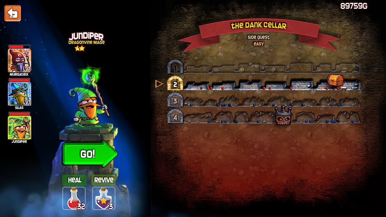 Chaque quête peut être entreprise par un groupe de trois personnages, qui se jouent en alternance lorsqu'un d'entre eux vient à tomber