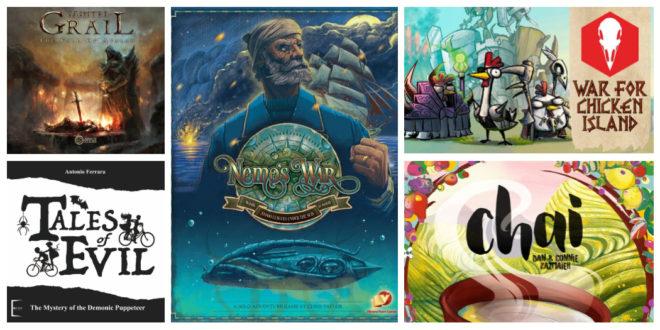 Kickstarter – Tainted Grail et 4 autres nouvelles campagnes jeux de société