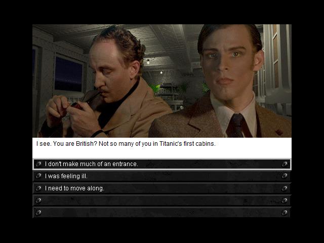 Vous aurez à interagir avec plusieurs passagers et membres de l'équipage au cours de votre aventure à bord du Titanic