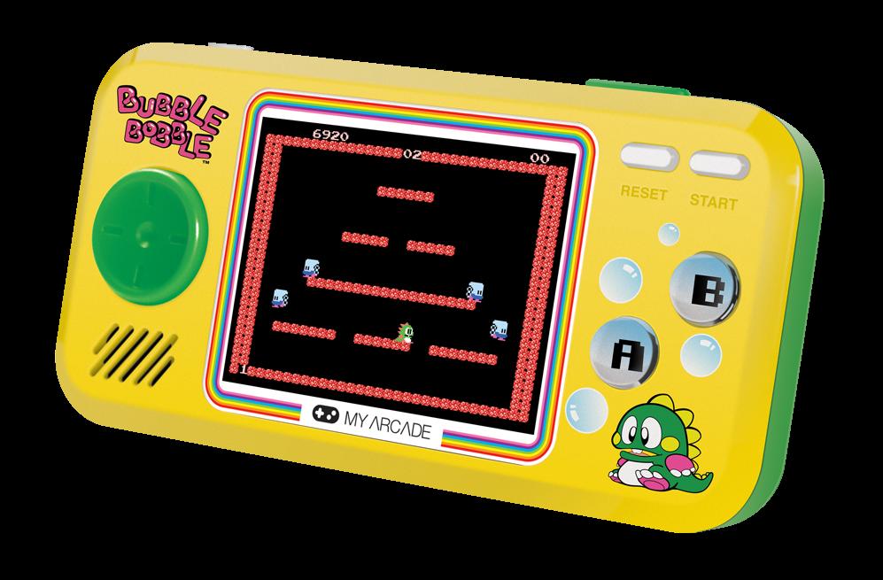 Le Bobble Bobble Pocket Player inclut le jeu original et ses deux suites plutôt méconnues en Amérique du Nord