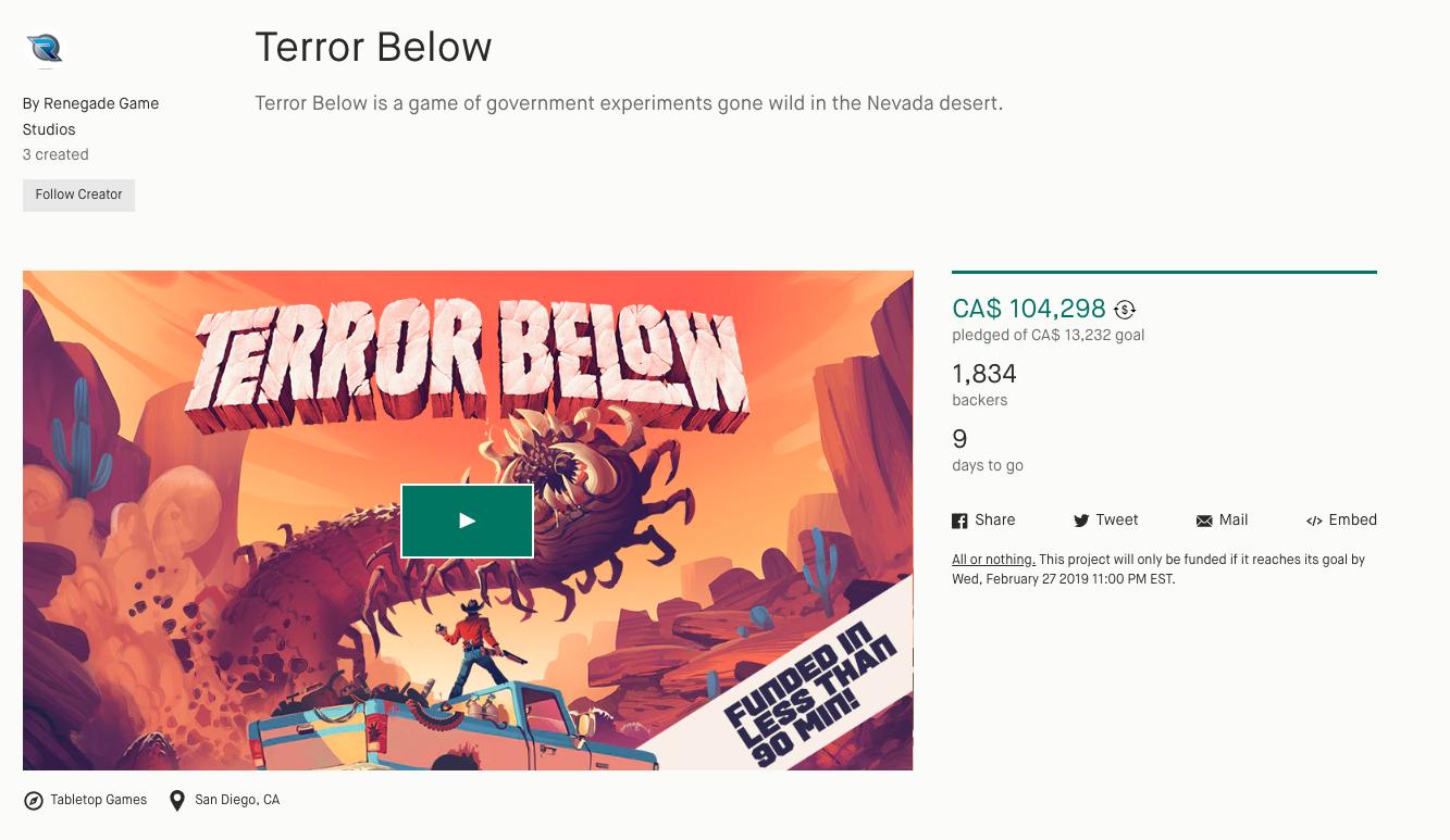 Kickstarter - Exemple de campagne