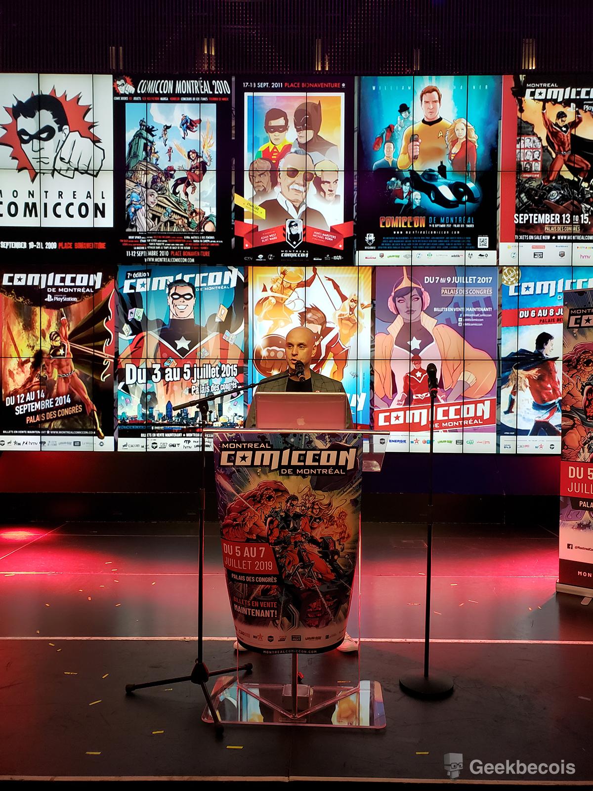 Conference de presse Comiccon de Montréal 2019