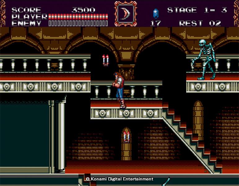 Castlevania Bloodlines inclut deux personnages à incarner, chacun ayant sa jouabilité propre