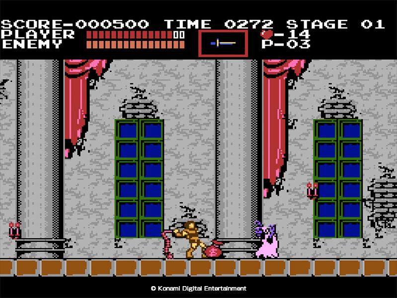 Castlevania est le premier titre de la franchise, sorti sur la NES en 1987