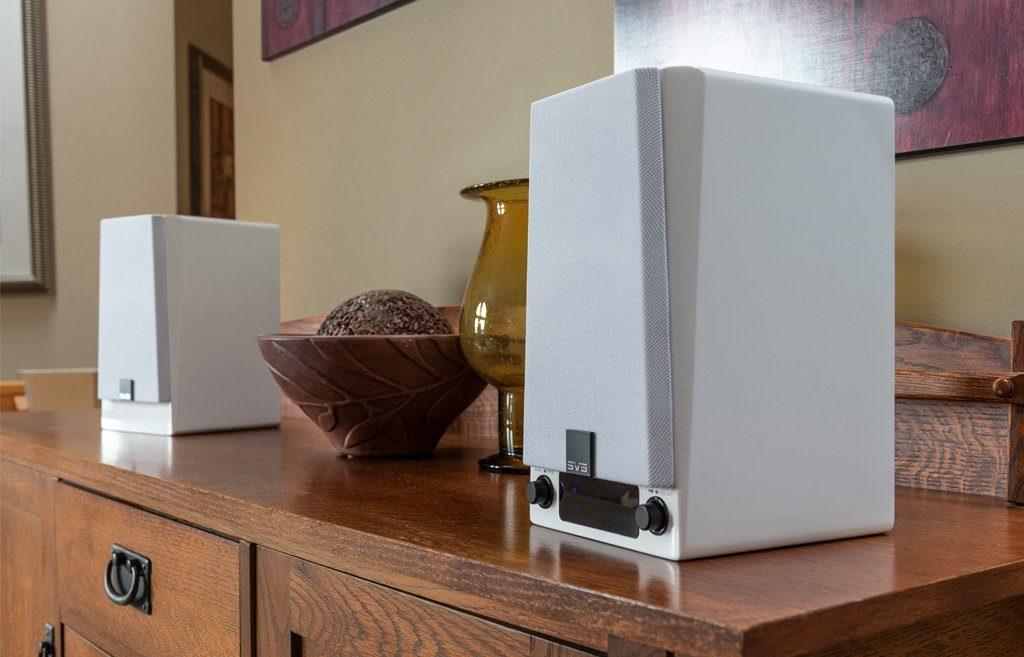 Haut-parleurs SVS Prime Wireless blancs