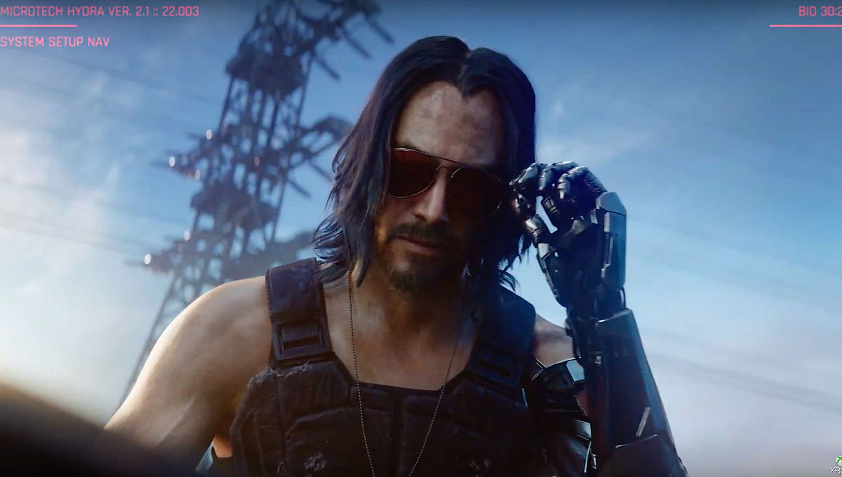 Johnny Silverhand, incarné par Keanu Reeves, sera votre guide dans vos aventures à Night City