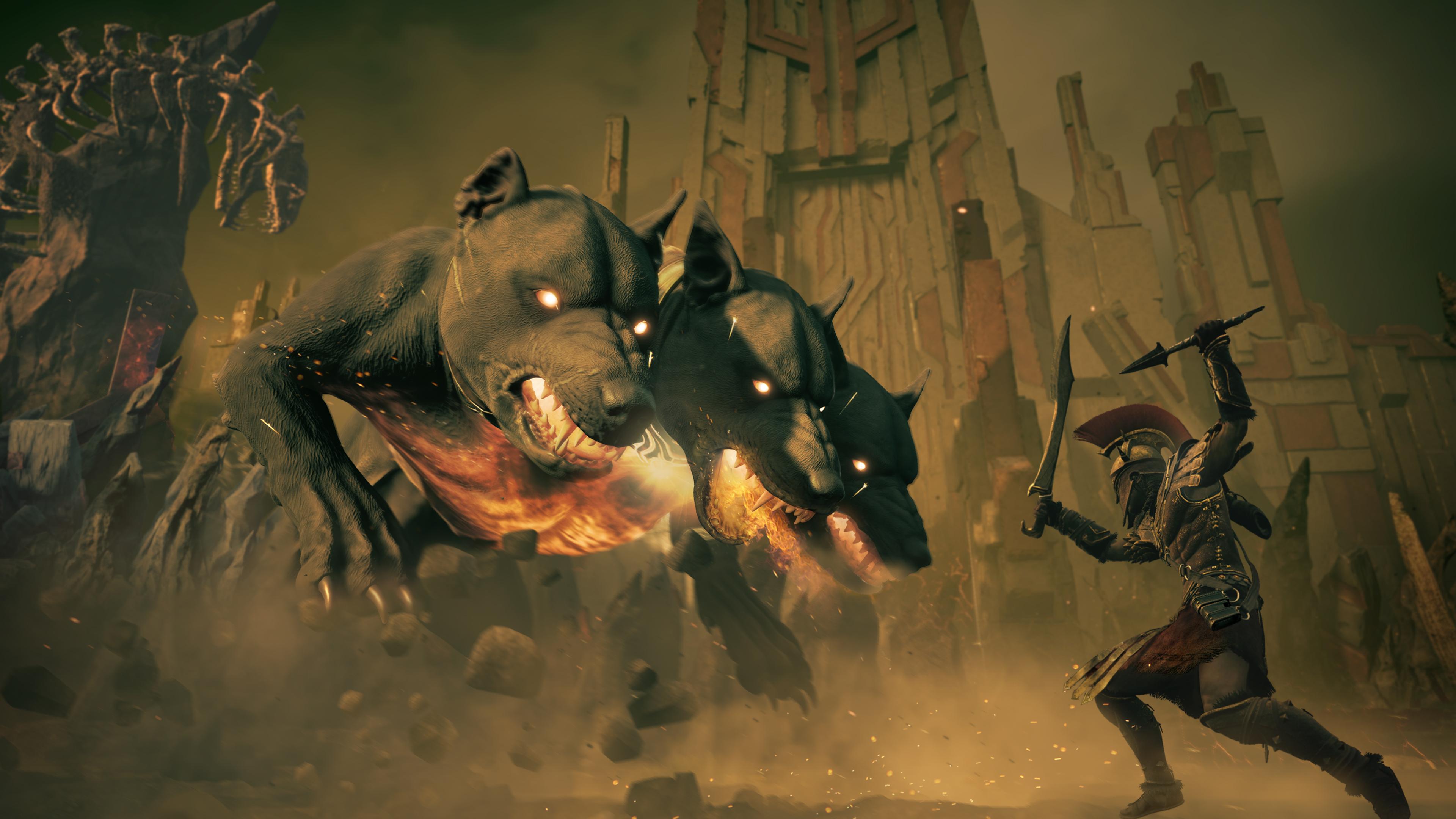La toute première étape de l'extension est de combattre le gardien des Enfers, Cerbère