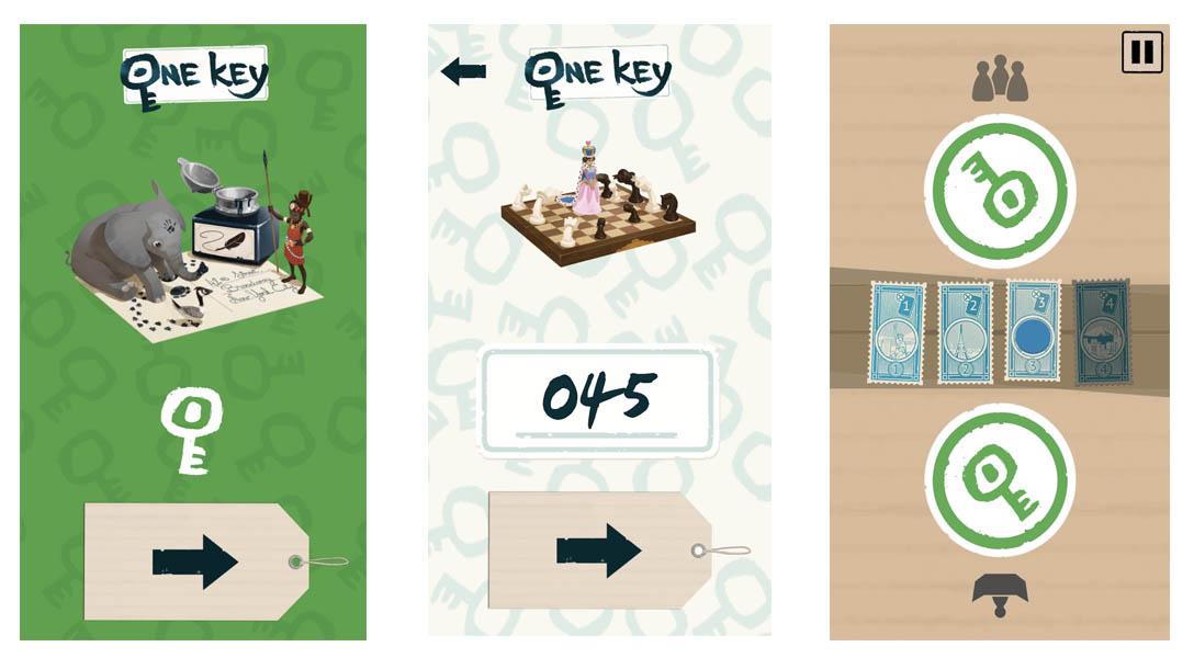 Application du jeu de société One Key