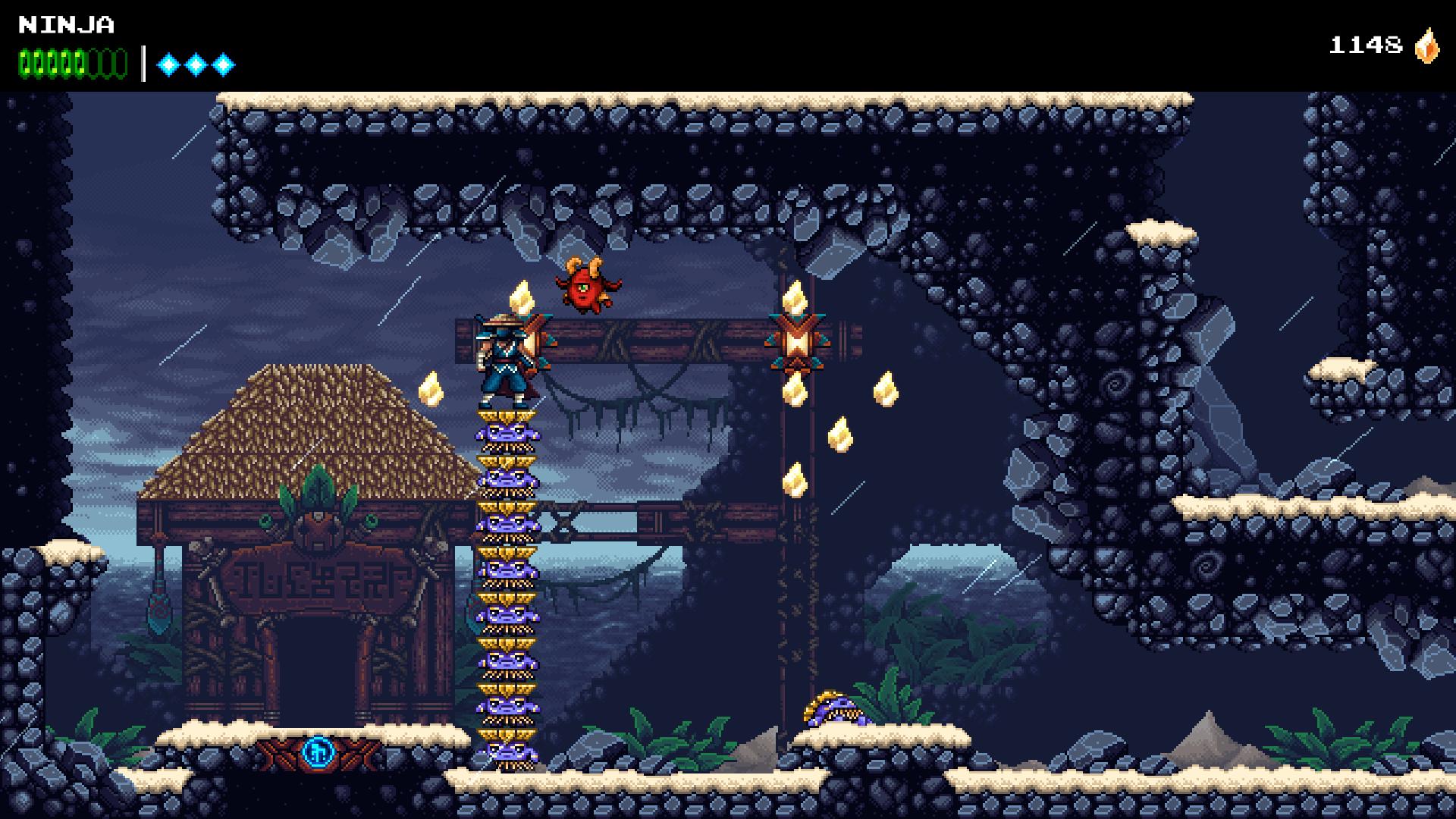 Passer dans un portail temporel fera passer le jeu du mode 8 à 16 bits et vice-versa