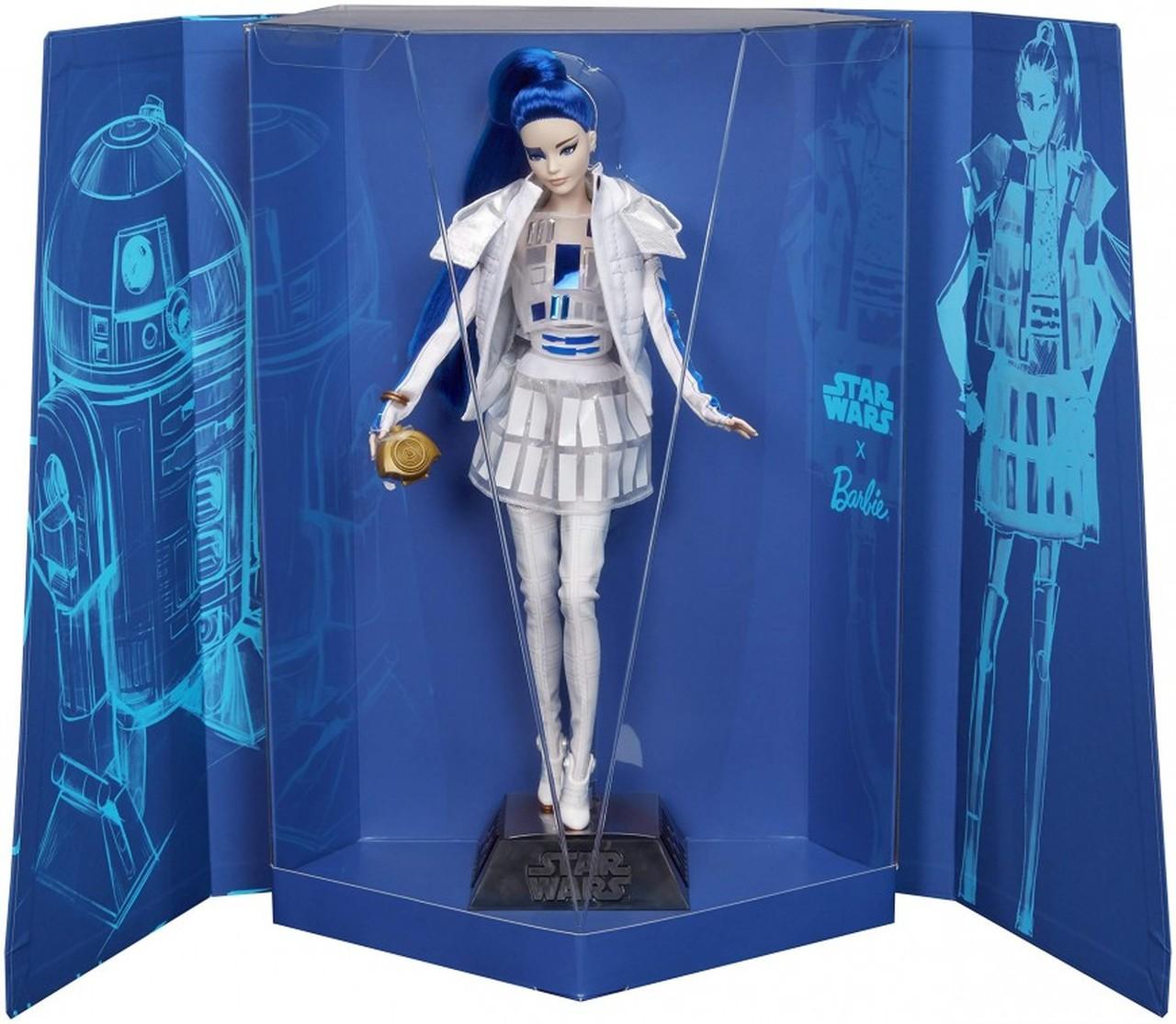 R2-D2 est bien représenté sous les traits de Barbie R2-D2!