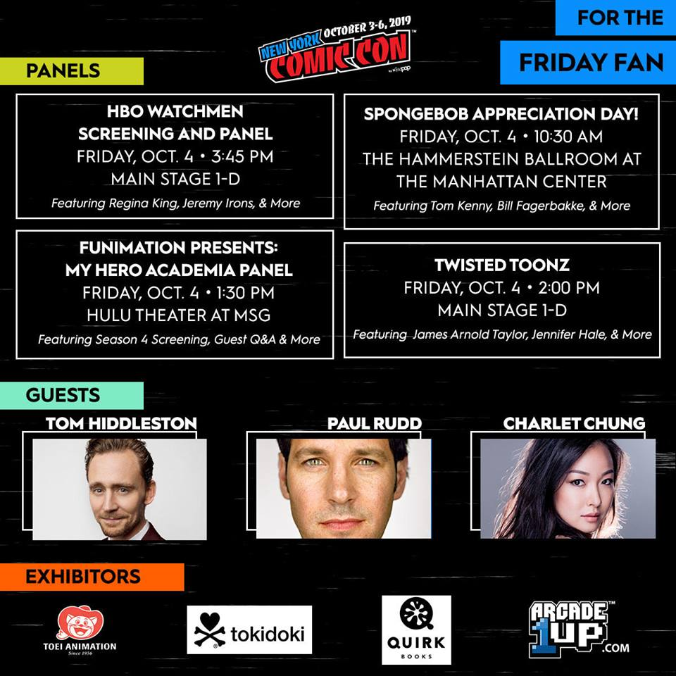 NYCC 2019 Events