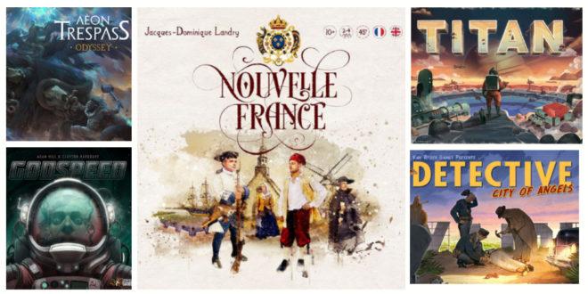 Nouvelle-France et 4 autres nouvelles campagnes jeux de société