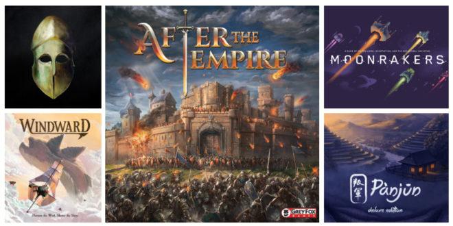 Jeux de société Kickstarter Août 2019