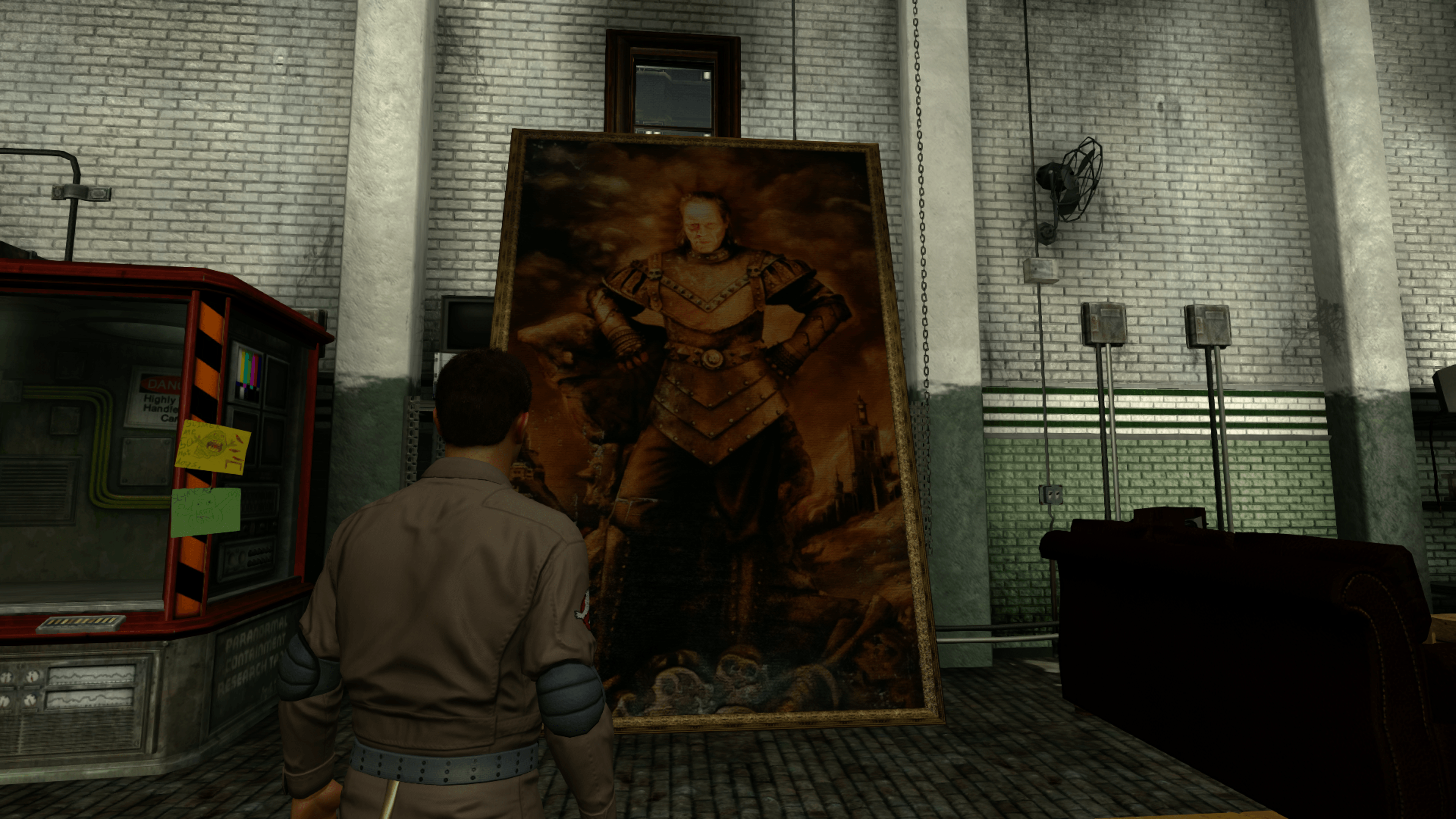 La peinture de Vigo, le vilain du deuxième film, se trouve dans la caserne des Ghostbusters.
