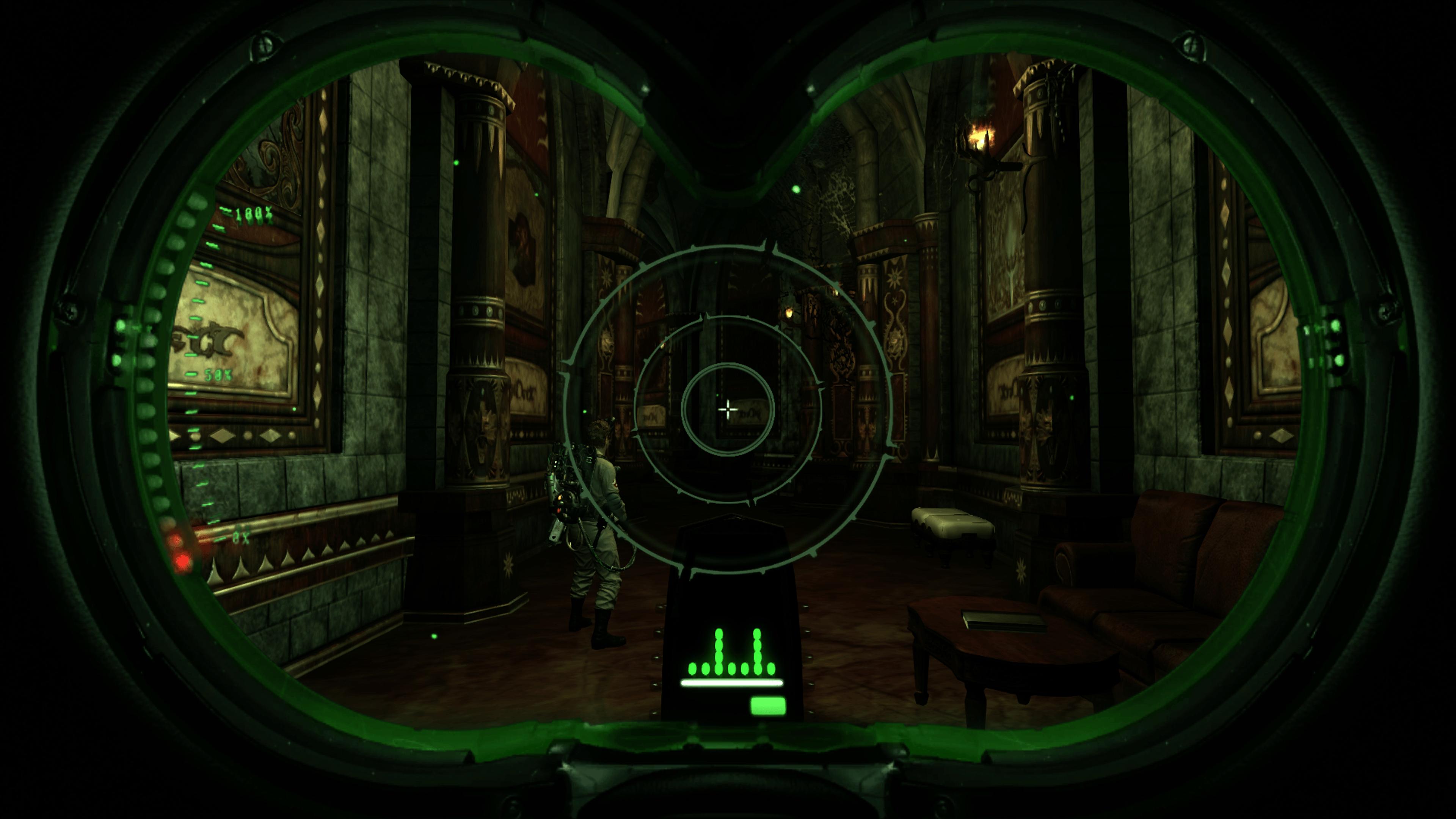 Le célèbre détecteur PK fait partie de votre arsenal et sera un grand atout dans votre missions.