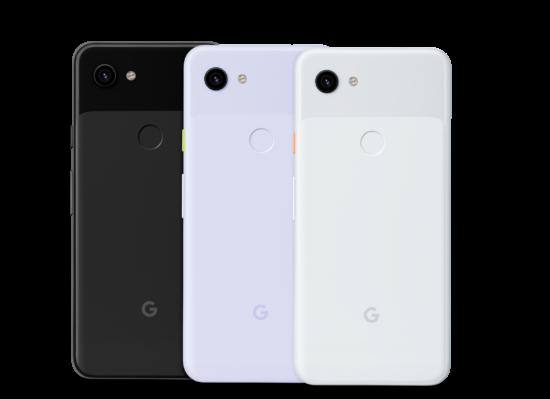 La famille de couleurs du Google Pixel 3a