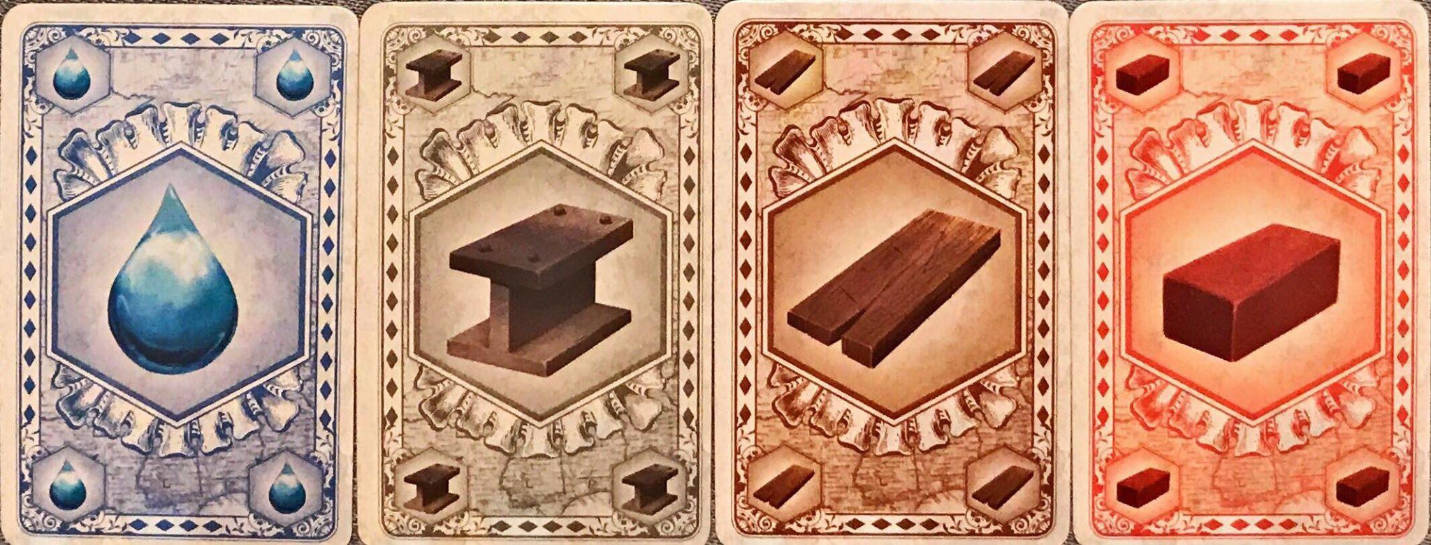 Les Ressources: eau, métal, bois et brique