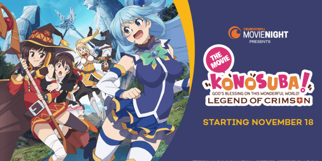 Le film Konosuba : The Legend of Crimson enfin en salles au Canada