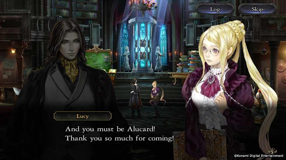 Alucard est le personnage principal de Grimoire of Souls, mais le jeu inclut quatre autres personnages jouables