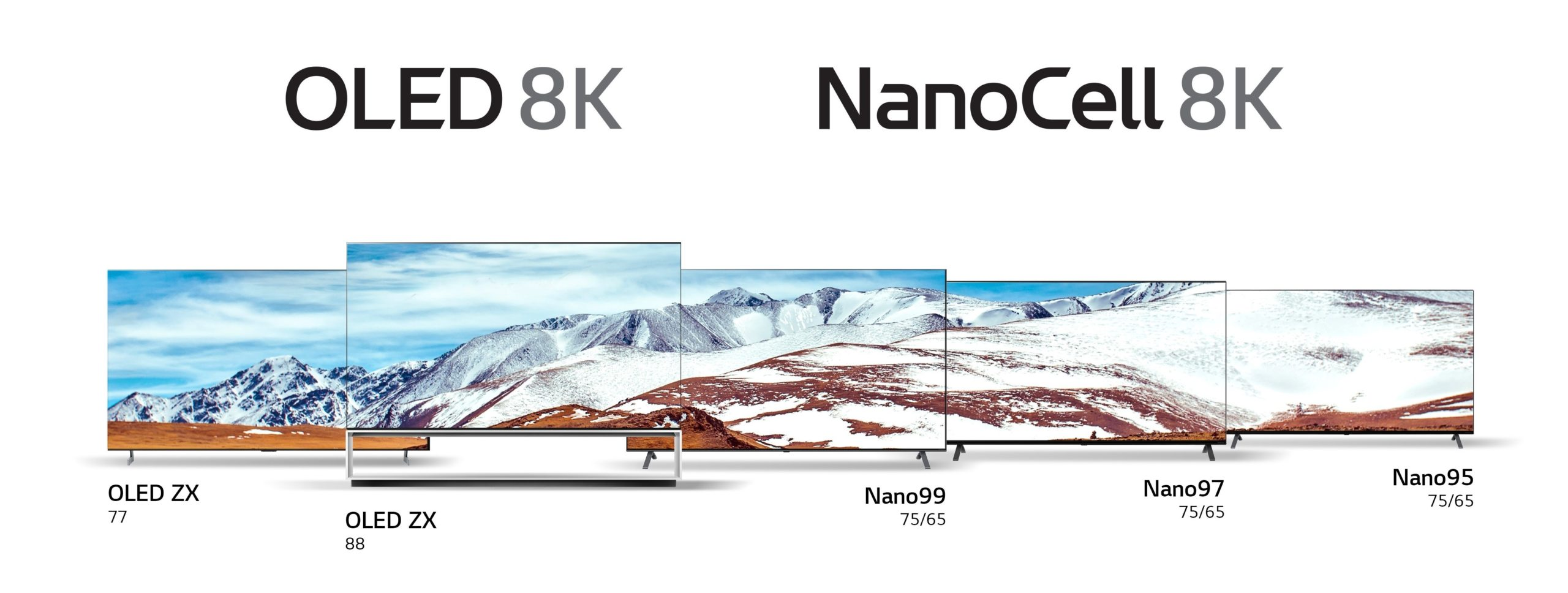 Avec plusieurs modèles offerts par LG, le UltraHD 8K prendra son envol en 2020