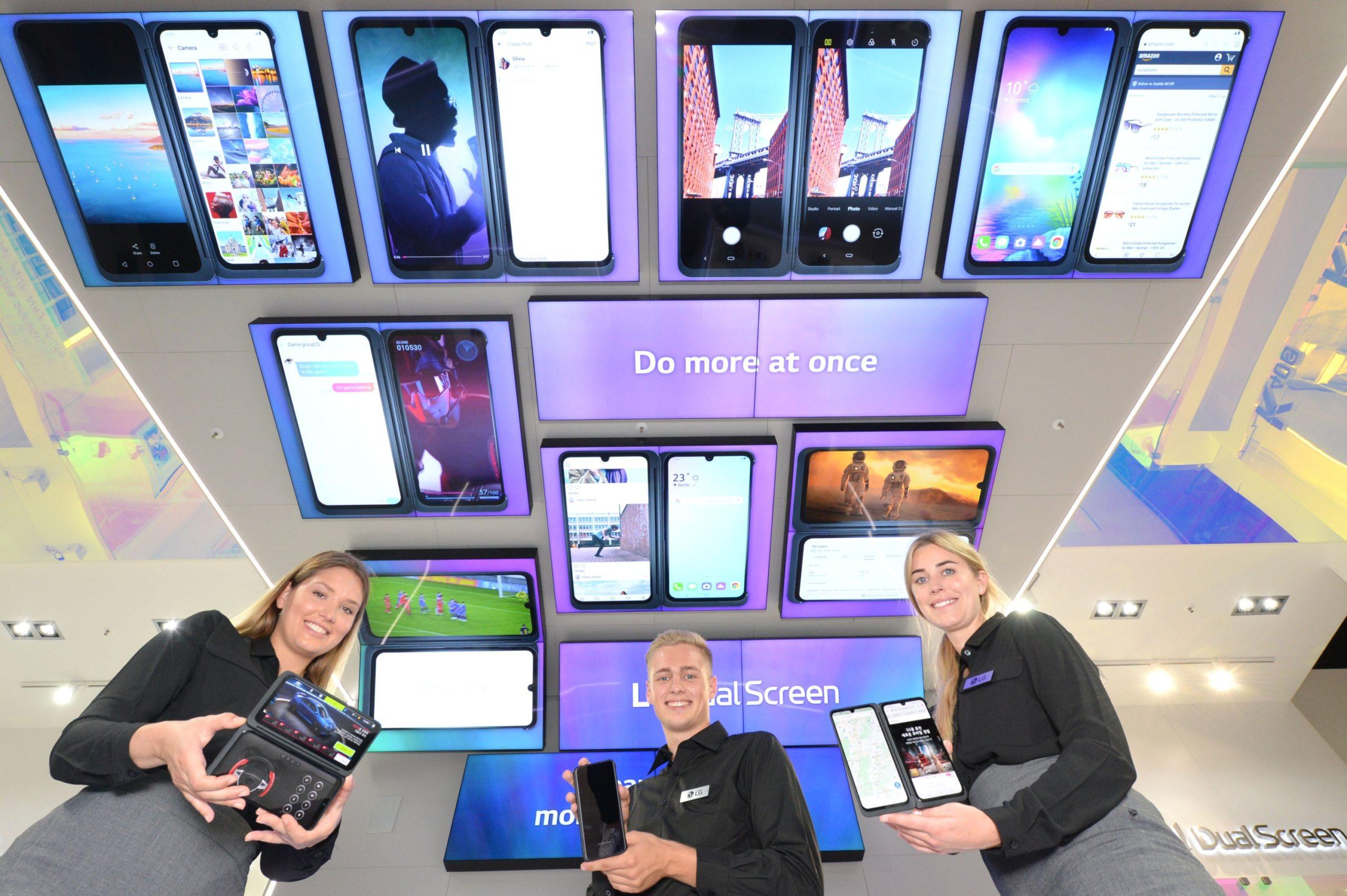 Faites en plus avec le nouveau téléphone portable à double écran G8X de LG!