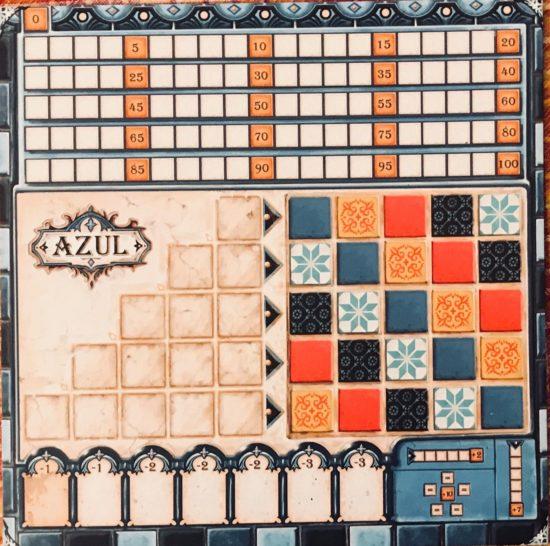 Azul, plateau de joueur