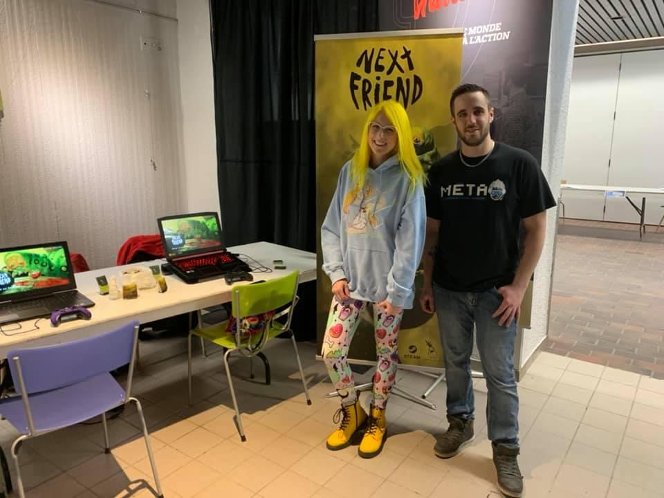 Valérie Lévesque et Yanko Roy, un des organisateurs du MÉTA-LAN