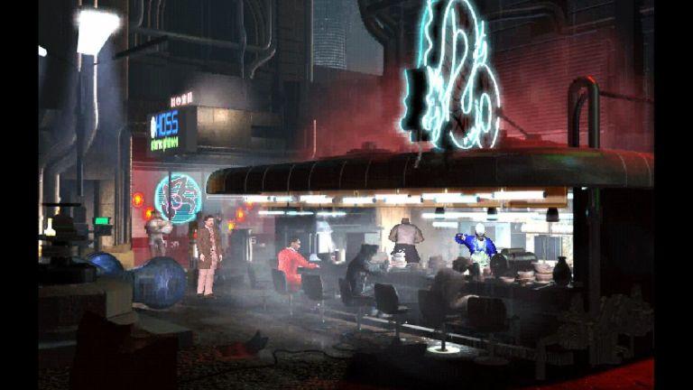 Le jeu revisite plusieurs décors qui apparaissaient dans le film original, comme le comptoir à nouilles où l'on voit Deckard pour la première fois.