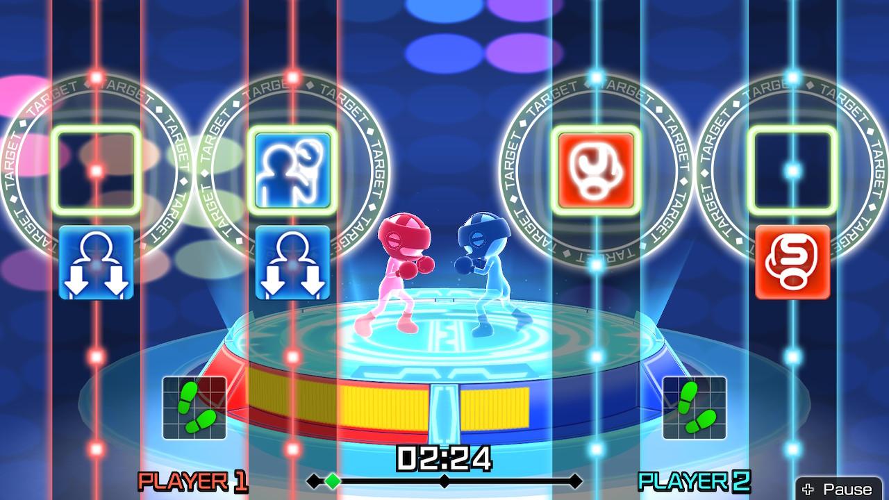 Deux joueurs peuvent s'affronter dans un combat d'activités physiques. - Fitness Boxing