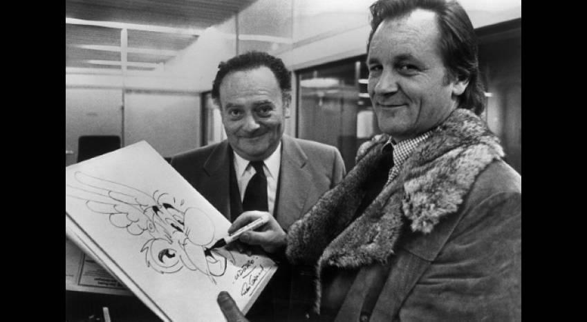 René Goscinny et Albert Uderzo ont fait équipe pendant 10 ans pour produire la série d'albums Astérix