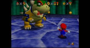 Capture d'écran de Super Mario 64 sur la Nintendo DS