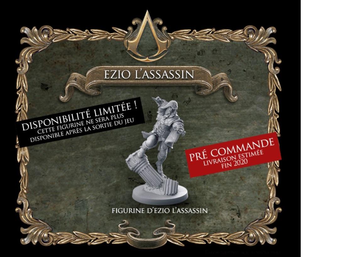Cette figurine très détaillée d'Ezzio l'Assassin sera offert uniquement durant la pério de pré-commande