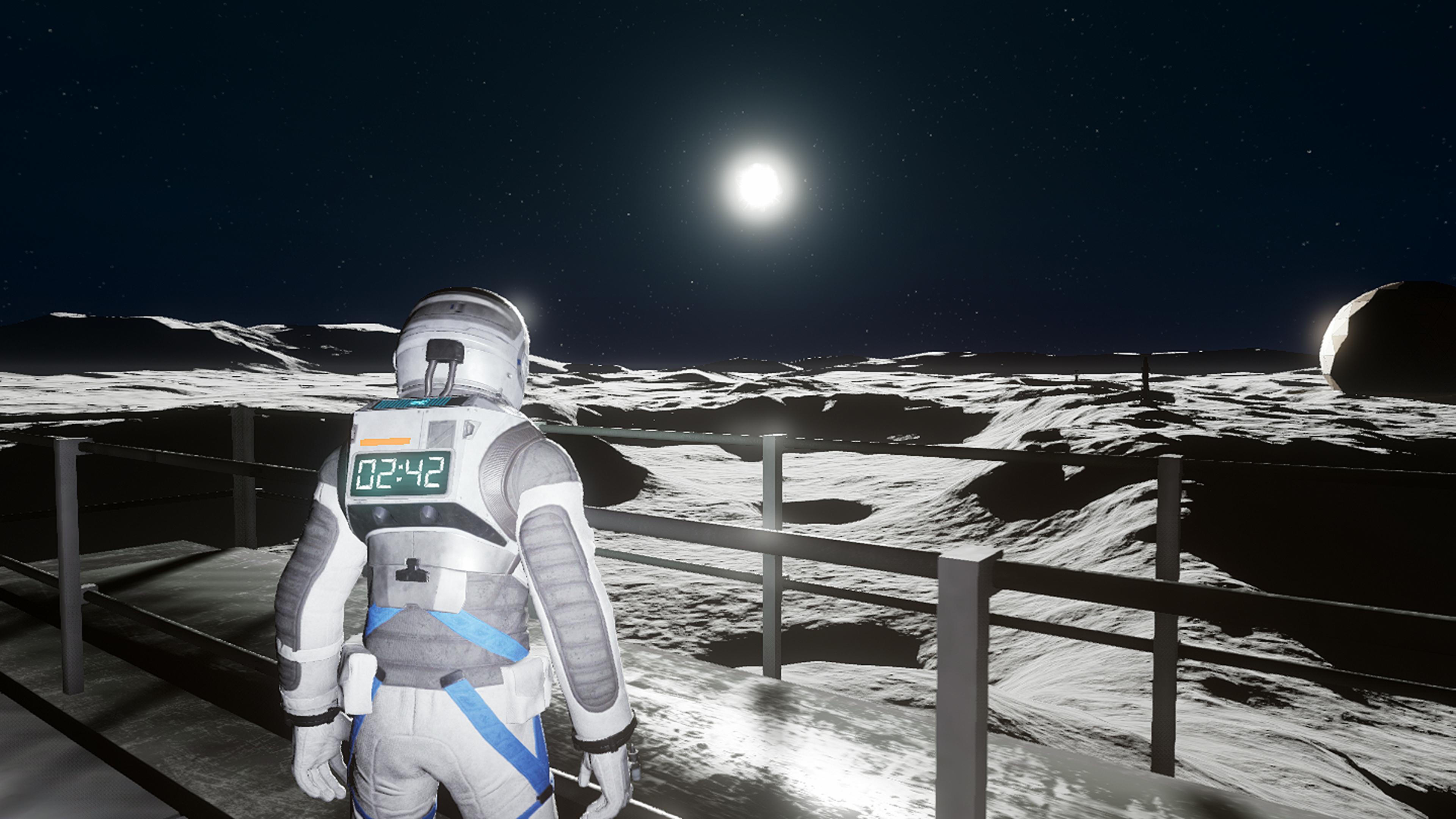Le jeu donne une superbe simulation de se retrouver à la surface de la Lune.