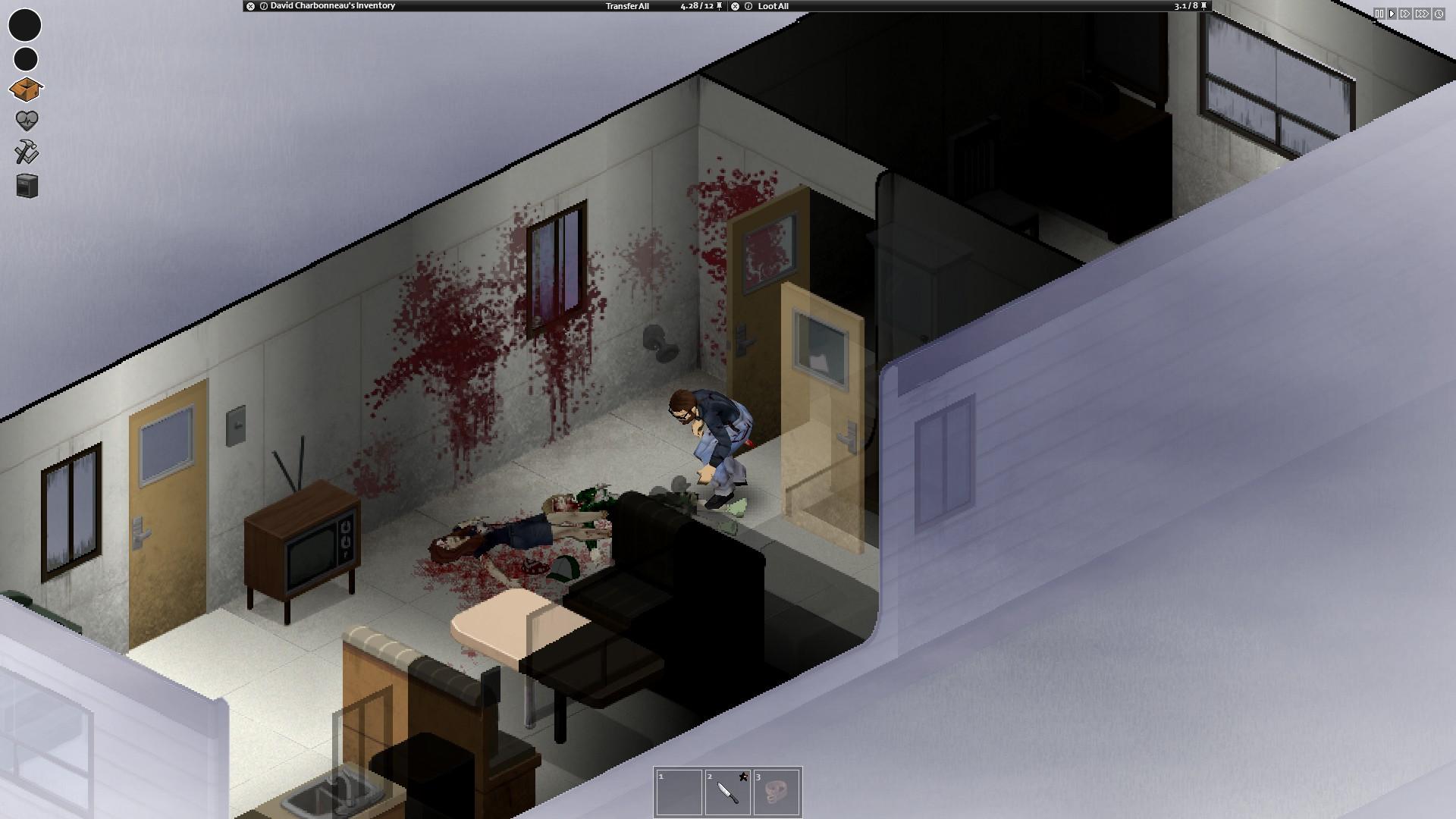 Lutte contre des zombies dans une maison mobile.