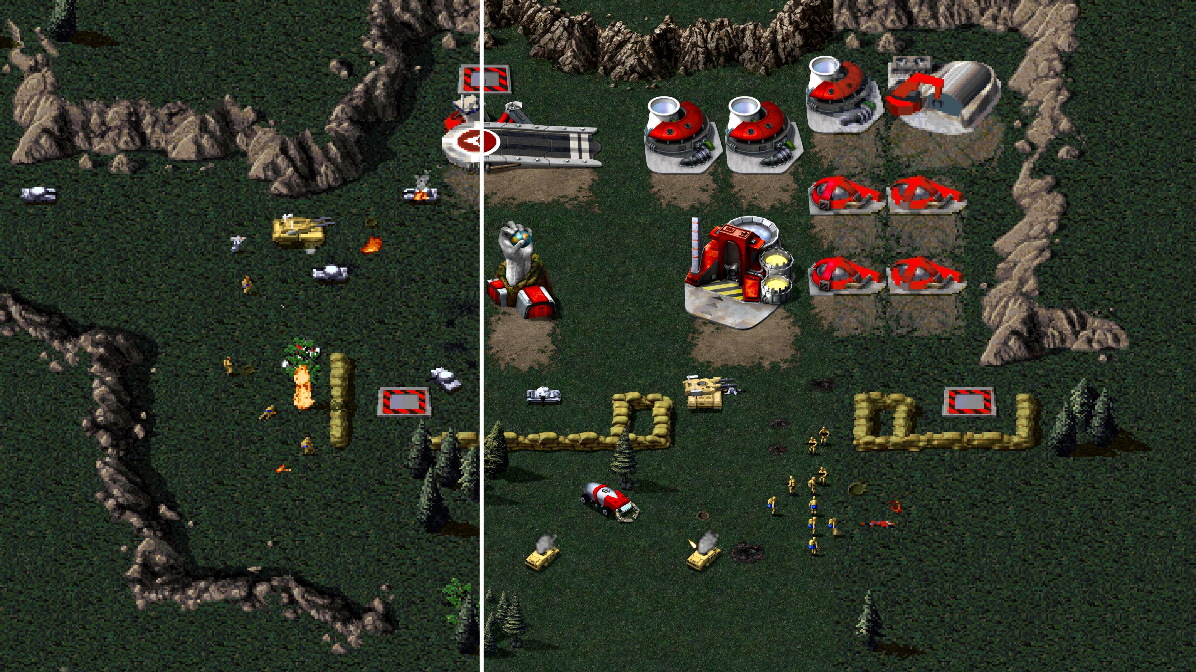 Les vétérans peuvent jouer avec le mode d'affichage classique, ou opter pour celui en résolution 4K
