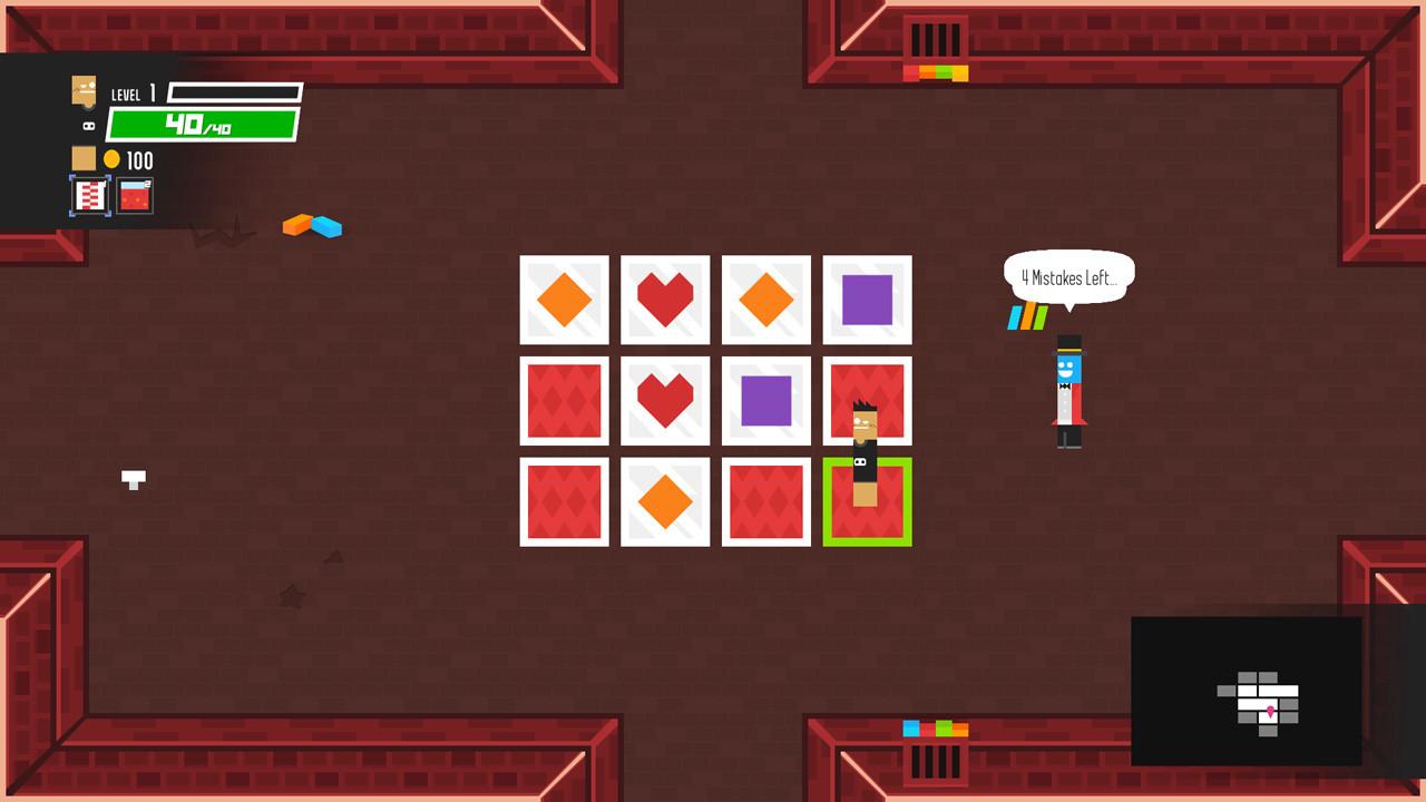 Compléter des puzzles, comme ici un jeu de mémoire, vous donnera des récompenses en or et en objets