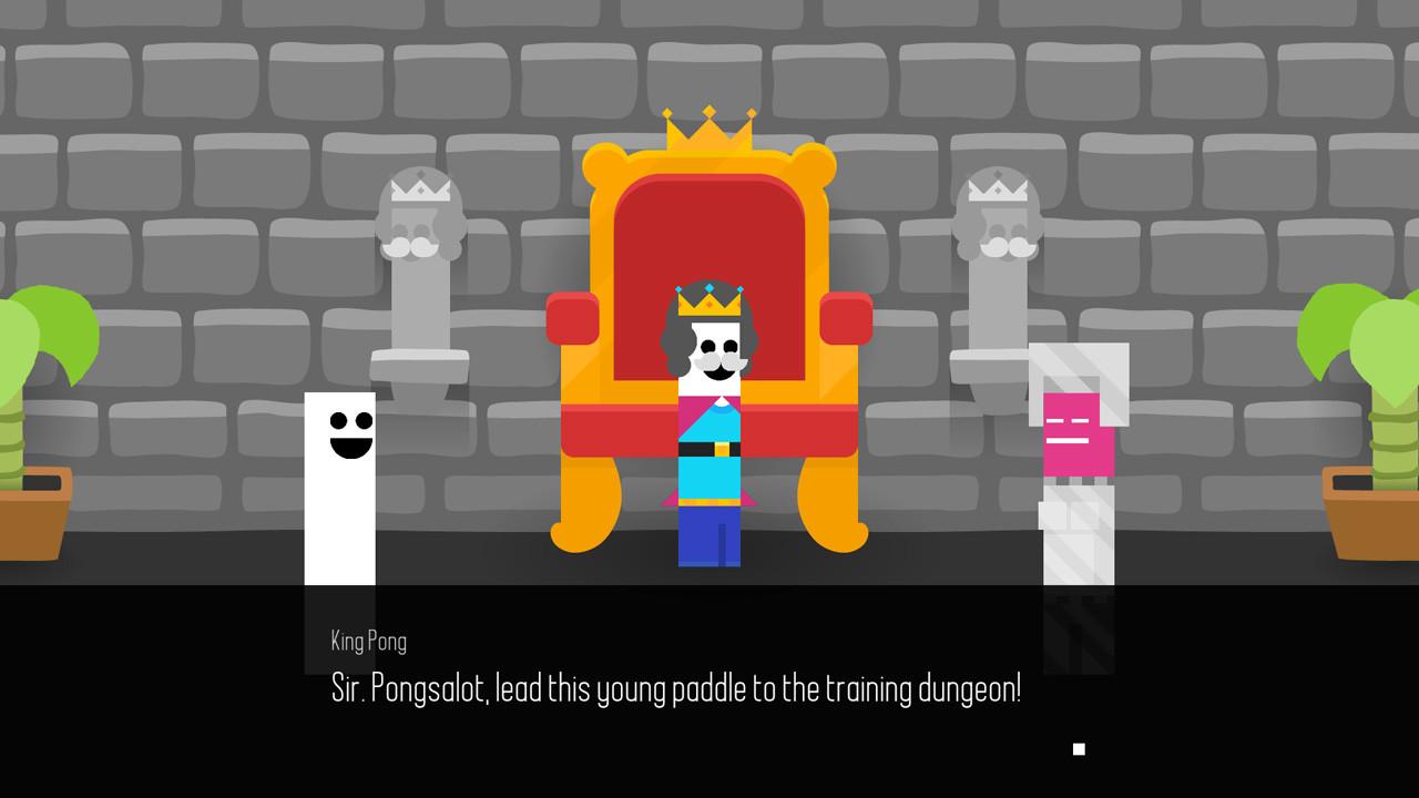 Chacun des habitants du royaume de Pong Quest est une raquette du jeu