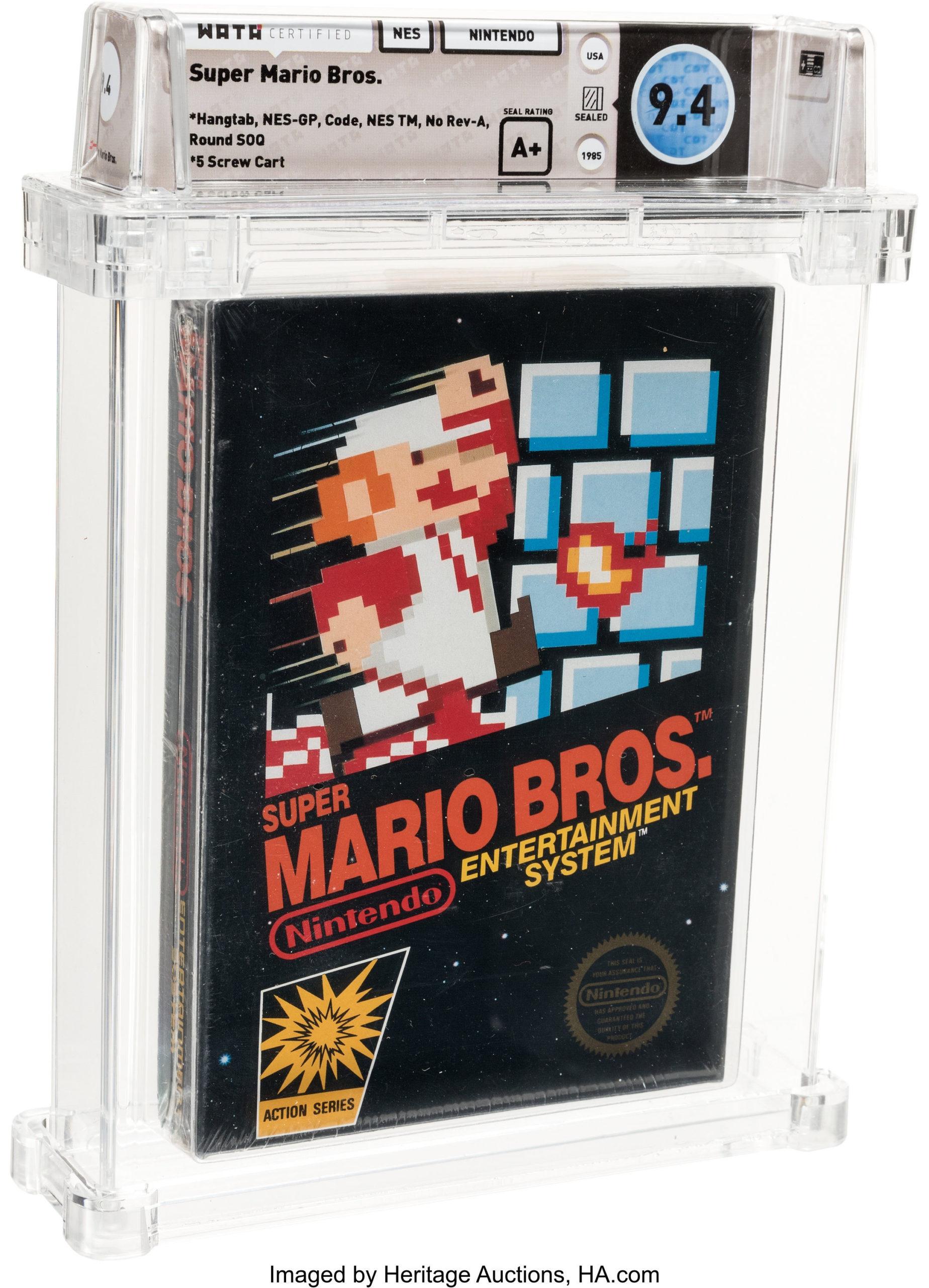 Le prix de 1144,000$US a battu l'ancien record de 100,000$US pour une autre copie de Super Mario Bros
